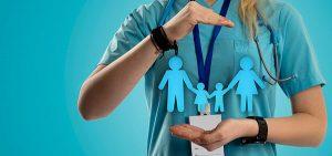 Arzt mit Familien-Symbol