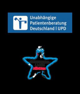 Logos UPD und Gesundheitsladen München