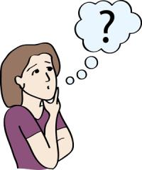 Frau stellt sich eine Frage